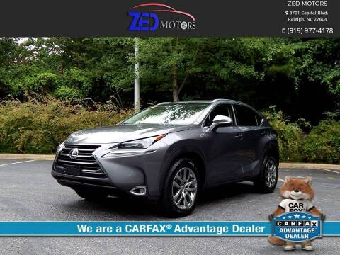 2015 Lexus NX 200t for sale at Zed Motors in Raleigh NC