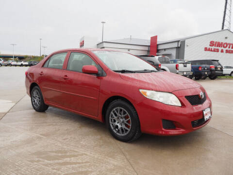 2009 Toyota Corolla for sale at SIMOTES MOTORS in Minooka IL