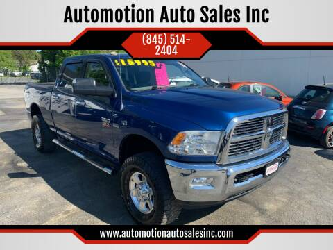 2010 Dodge Ram Pickup 2500 for sale at Automotion Auto Sales Inc in Kingston NY