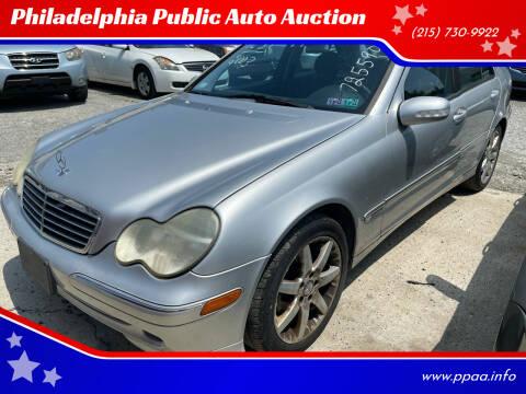 2003 Mercedes-Benz C-Class for sale at Philadelphia Public Auto Auction in Philadelphia PA