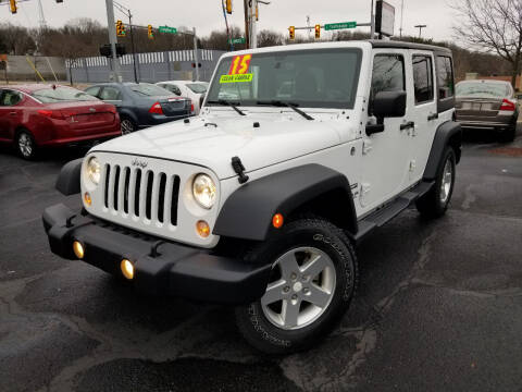 2015 Jeep Wrangler Unlimited for sale at Cedar Auto Group LLC in Akron OH