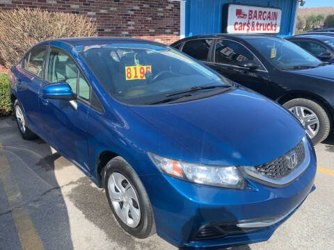 2014 Honda Civic for sale at BURNWORTH AUTO INC in Windber PA