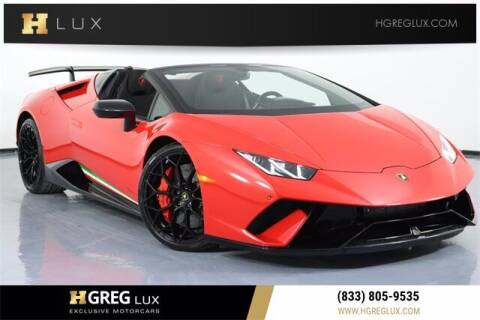 2018 Lamborghini Huracan for sale at HGREG LUX EXCLUSIVE MOTORCARS in Pompano Beach FL