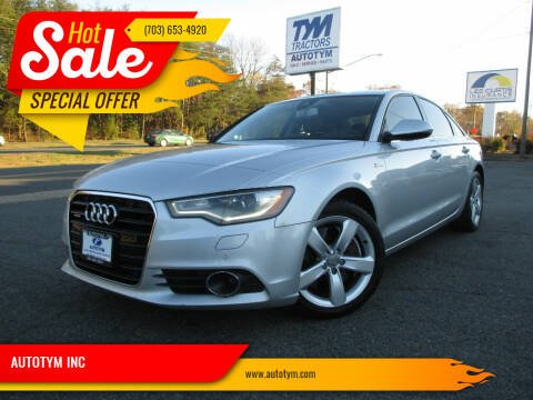 2012 Audi A6 for sale at AUTOTYM INC in Fredericksburg VA
