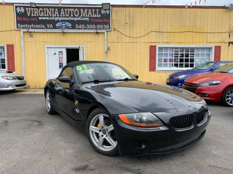 2003 BMW Z4 for sale at Virginia Auto Mall in Woodford VA