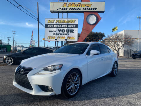 2014 Lexus IS 250 for sale at A MOTORS SALES AND FINANCE - 6226 San Pedro Lot in San Antonio TX