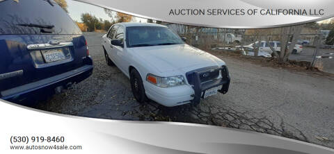 2011 Ford Crown Victoria for sale at AUCTION SERVICES OF CALIFORNIA in El Dorado CA