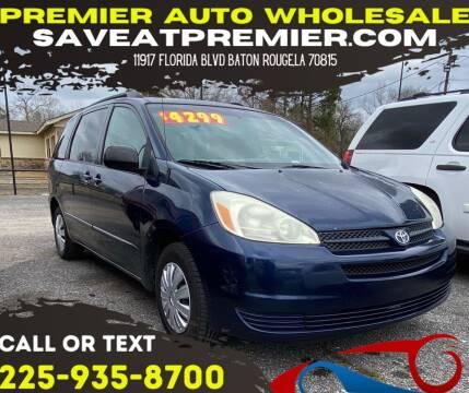 2004 Toyota Sienna for sale at Premier Auto Wholesale in Baton Rouge LA
