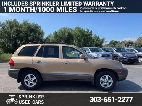 2003 Hyundai Santa Fe for sale at Sprinkler Used Cars in Longmont CO