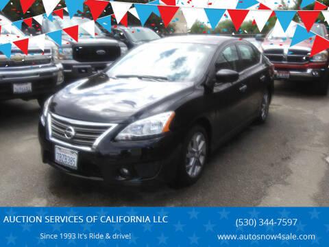 2013 Nissan Sentra for sale at AUCTION SERVICES OF CALIFORNIA in El Dorado CA