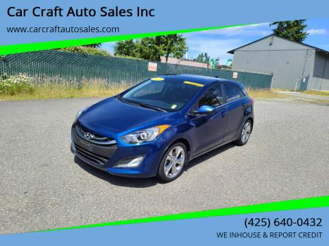 2013 Hyundai Elantra GT for sale at Car Craft Auto Sales Inc in Lynnwood WA