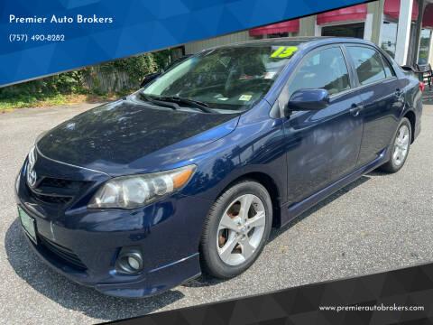 2013 Toyota Corolla for sale at Premier Auto Brokers in Virginia Beach VA