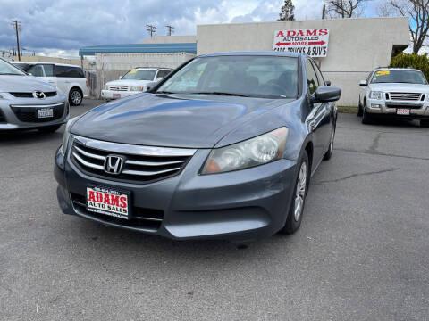 2011 Honda Accord for sale at Adams Auto Sales in Sacramento CA