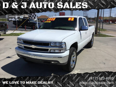 2002 Chevrolet Silverado 1500 for sale at D & J AUTO SALES in Joplin MO