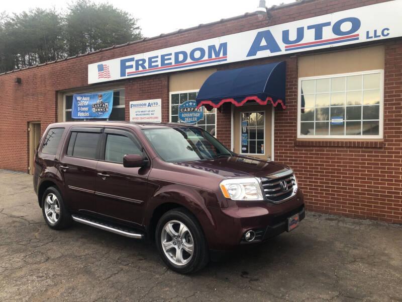2014 Honda Pilot for sale at FREEDOM AUTO LLC in Wilkesboro NC