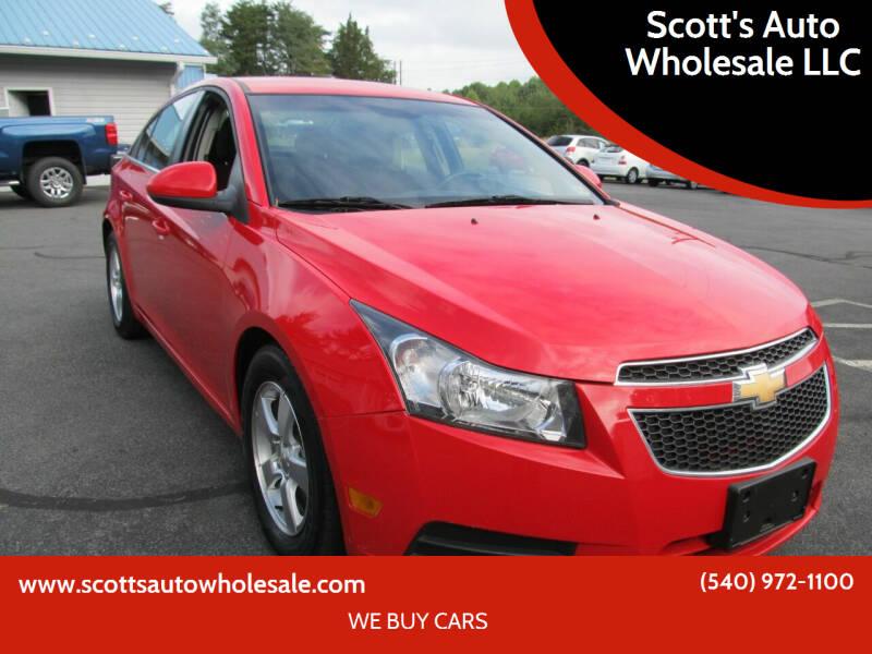 2014 Chevrolet Cruze for sale at Scott's Auto Wholesale LLC in Locust Grove VA