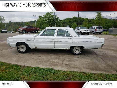 1966 Dodge Coronet for sale at HIGHWAY 12 MOTORSPORTS in Nashville TN