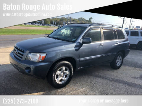 2005 Toyota Highlander for sale at Baton Rouge Auto Sales in Baton Rouge LA