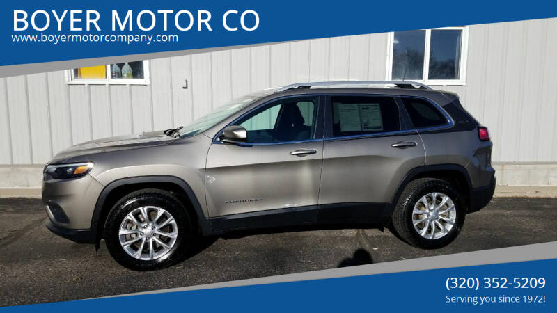 2019 Jeep Cherokee for sale at BOYER MOTOR CO in Sauk Centre MN