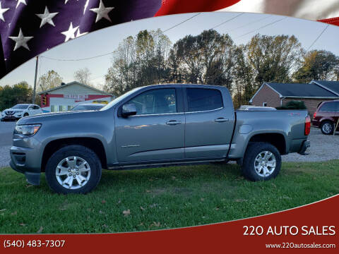 2020 Chevrolet Colorado for sale at 220 Auto Sales in Rocky Mount VA