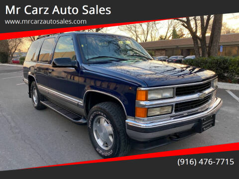 1999 Chevrolet Tahoe for sale at Mr Carz Auto Sales in Sacramento CA
