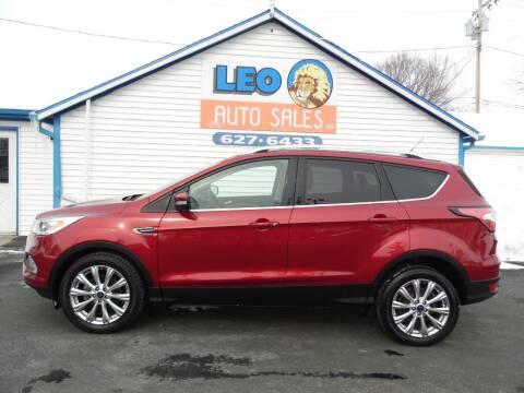 2017 Ford Escape for sale at Leo Auto Sales in Leo IN