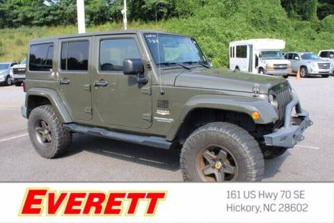 2015 Jeep Wrangler Unlimited for sale at Everett Chevrolet Buick GMC in Hickory NC
