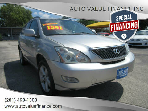 2005 Lexus RX 330 for sale at AUTO VALUE FINANCE INC in Stafford TX