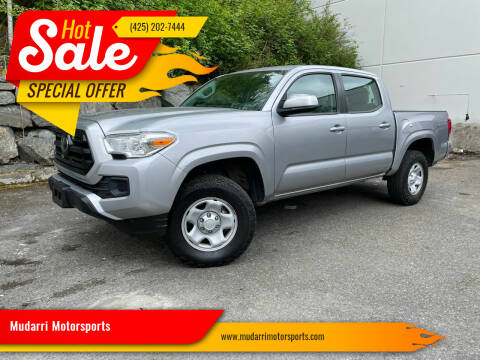 2018 Toyota Tacoma for sale at Mudarri Motorsports in Kirkland WA