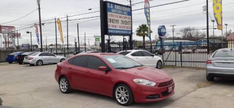 2013 Dodge Dart for sale at S.A. BROADWAY MOTORS INC in San Antonio TX