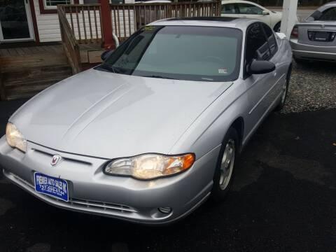 2002 Chevrolet Monte Carlo for sale at Premier Auto Sales Inc. in Newport News VA