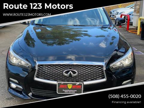 2015 Infiniti Q50 for sale at Route 123 Motors in Norton MA