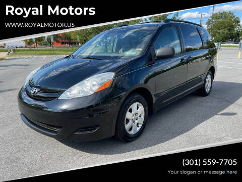 2008 Toyota Sienna for sale at Royal Motors in Hyattsville MD