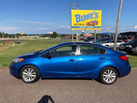 2015 Kia Forte for sale at Blake's Auto Sales in Rice Lake WI