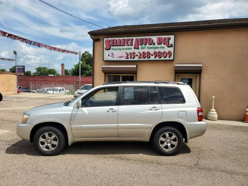 2004 Toyota Highlander for sale at SELLECT AUTO INC in Philadelphia PA