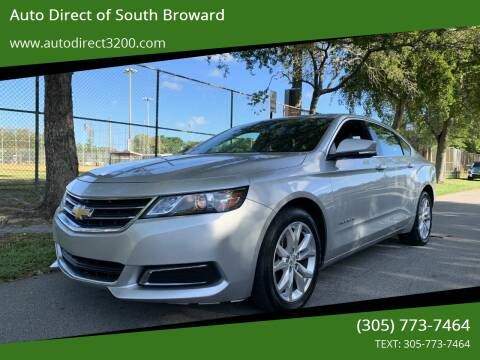2017 Chevrolet Impala for sale at Auto Direct of South Broward in Miramar FL