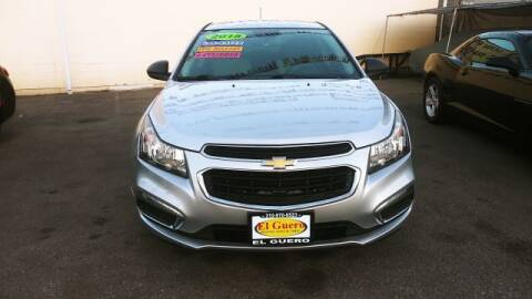 2015 Chevrolet Cruze for sale at El Guero Auto Sale in Hawthorne CA