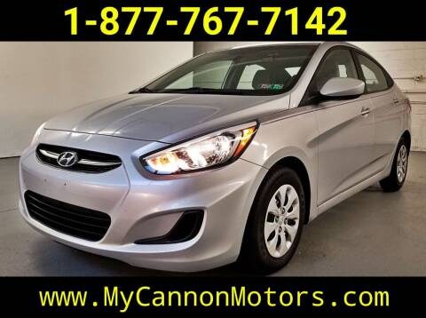 2017 Hyundai Accent for sale at Cannon Motors in Silverdale PA