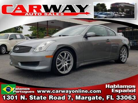 2007 Infiniti G35 for sale at CARWAY Auto Sales in Margate FL