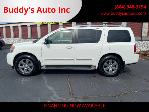 2012 Nissan Armada for sale at Buddy's Auto Inc in Pendleton, SC