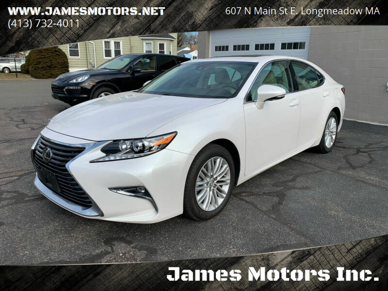 2018 Lexus ES 350 for sale at James Motors Inc. in East Longmeadow MA