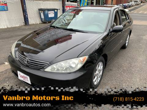 2005 Toyota Camry for sale at Vanbro Motors Inc in Staten Island NY