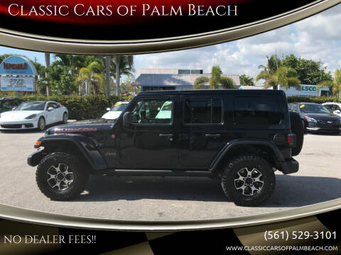 2018 Jeep Wrangler Unlimited for sale at Classic Cars of Palm Beach in Jupiter FL