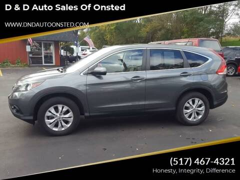 2014 Honda CR-V for sale at D & D Auto Sales Of Onsted in Onsted   Brooklyn MI