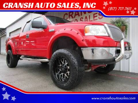 2006 Ford F-150 for sale at CRANSH AUTO SALES, INC in Arlington TX