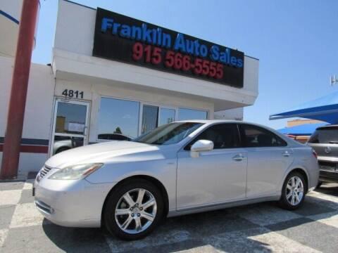 2009 Lexus ES 350 for sale at Franklin Auto Sales in El Paso TX