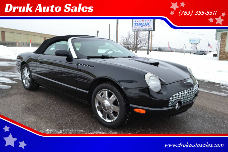 2002 Ford Thunderbird for sale at Druk Auto Sales in Ramsey MN