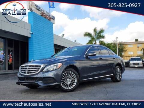 2015 Mercedes-Benz C-Class for sale at Tech Auto Sales in Hialeah FL