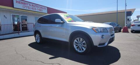 2013 BMW X3 for sale at Henry's Autosales, LLC in Reno NV