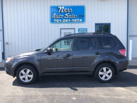 2013 Subaru Forester for sale at NESS AUTO SALES in West Fargo ND